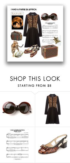 """Safari anticipation"" by lorika-borika on Polyvore featuring мода, The Row, Louis Vuitton, Alberta Ferretti, Out of Africa, Leica, Sesto Meucci, Jonathan Adler, women's clothing и women"