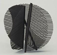 "Gego, Sphere, 1950, welded brass and steel, painted, 22"" in diameter"