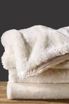 Restoration Hardware: Luxe Faux Fur Throw (Artic)