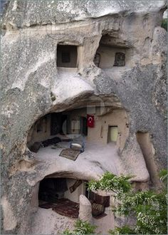 home built litterally into mountain