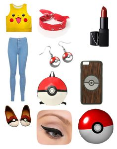 """Pokemon~"" by andleigh on Polyvore featuring Miss Selfridge, LA: Hearts, NARS Cosmetics and LORAC"