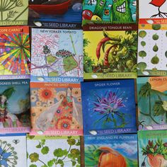 Hudson Valley Seed Library, seed packs - the most beautiful seed packets on the planet?