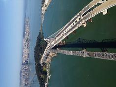The new Bay Bridge San Francisco. Look way in the background, you can see the Golden Gate Bridge. Ocean Beach San Francisco, San Francisco California, California Dreamin', Bridge Construction, San Fernando Valley, Living In San Francisco, Bridge Design, Stunning View, Beautiful