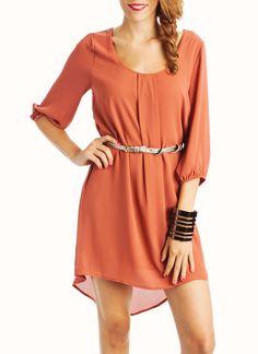 chiffon belted dress $43.20