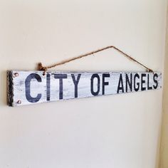 Hey, I found this really awesome Etsy listing at https://www.etsy.com/listing/167710241/los-angeles-city-of-angels-rustic