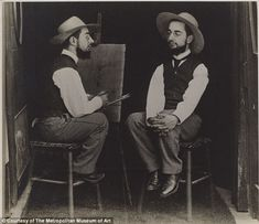 Henri de Toulouse-Lautrec as Artist and Model: 1892 by Maurice Guibert Gelatin silver print