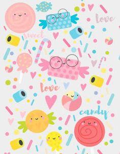 Fondos de pantalla chulos para el móvil (12) @latiendadedibus #minimalia sweet, candy and love pattern :)