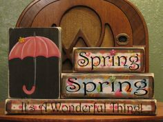 Spring Sign  Spring Spring It's A by PunkinSeedProduction on Etsy, $40.00