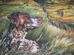 gsp German Shorthaired Pointer CANVAS art print of by TheDogLover