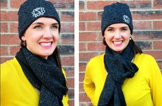 Daily deal!  Personalized monogrammed beanie with matching FREE scarf!