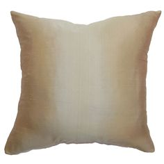 This soft and plush throw pillow is a lovely statement piece which you can add in your living room. The accent pillow features a stunning glow from the 100-percent natural silk fabric.