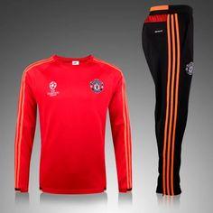 Manchester United 2015/16 Champion League Men Red Tracksuit Slim Fit