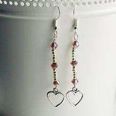 Wine Heart Earrings - pinned by pin4etsy.com