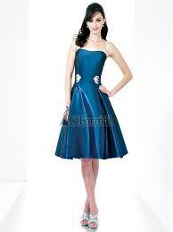 Blue wedding brides maid dress