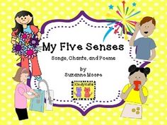 Your youngsters will welcome these catchy chants, poems, and songs from KindyKats that reinforce the five senses.   What you'll find inside: •	My Five Senses •	Listen! •	So Many Sounds •	When I Breathe Air •	I Smell •	I Touch and Feel •	Textures •	My Eyes •	What Can Your Eyes See? •	My Tongue •	What Tastes?  Accompanying directions and activity suggestions, appropriate for use in Daycare, Preschool, Kindergarten, First, Second Grades, and Homeschool are included.