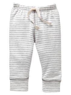 soft striped terry pants | baby gap