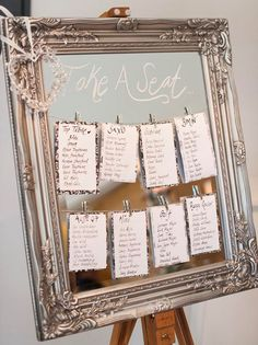 Mirror and frame wedding seating plan #seatingchart #weddingseatingplan #weddingtableplan #weddingseatingchart #mirrortableplan #frametableplan #weddinginspiration