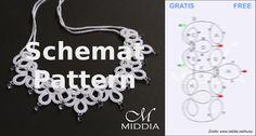 Schemat frywolitka naszyjnik. Tatting pattern necklace