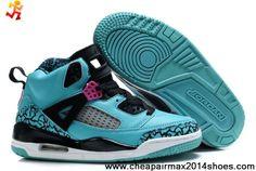 Nike Kids Jordan Spizike Turquoise Black Sneakers  3125664