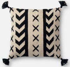 Loloi - Loloi Pillow P0502 Black - Ivory #163119