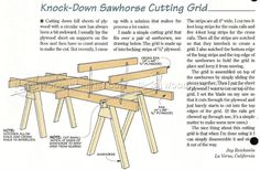 Knock-Down Sawhorse Cutting Grid - Circular Saw Tips, Jigs and Fixtures | WoodArchivist.com