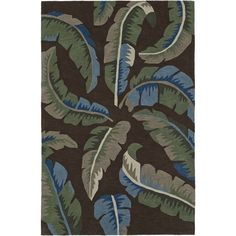 Addison Nassau Banana Leaf /Multi Plush Area Rug