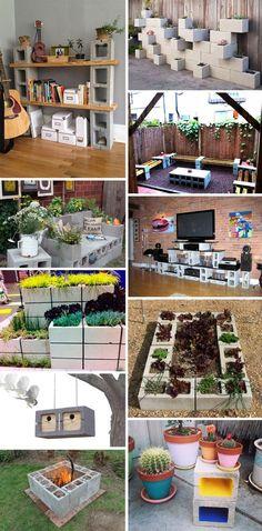 Si je vous dit « parpaing » vous allez très certainement penser à une maison ou à un mur. Mais avec l'imagination d'un enfant qui joue aux LEGO, les parpaings peuvent servir de base pour créer du mobilier et des objets déco : un banc, une table, un bac de fleurs, un barbecue, un nichoir à oiseaux… La preuve avec cette sélection de 20 DIY à réaliser avec des parpaings.