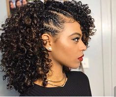 54 Nice Cute Curly Hairstyles For Medium Hair 2017 Cute Curly 9 Easy Curly Hairstyles Natural Hair Hair Cuffs Curly Hair 10 Quick Easy Hairstyles For Natural Cu Cute Curly Hairstyles, Girl Hairstyles, Braided Hairstyles, Protective Hairstyles, Curly Haircuts, Hairstyles Pictures, Stylish Hairstyles, Protective Styles, Hairdos