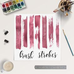 Rose Gold Clipart -  http://etsy.me/2bR2ADi This listing is for 7 pieces of high quality rose gold brush strokes.