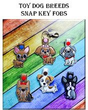 In The Hoop Toy Dog Snap Key Fob Embroidry Machine Design Set - Newfound Applique