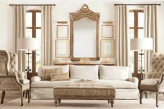 Love this look from restoration hardware (very comfy couch by the way)