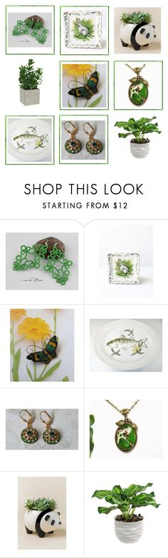 """""""Think Green!"""" by anna-ragland ❤ liked on Polyvore featuring Streamline NYC, Threshold and vintage"""