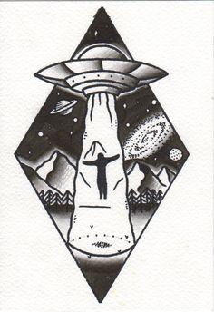 #ufo #tattoo #space #human #tattoo #black #dark