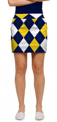 Blue & Gold Mega Women's Skort/Skirt MTO