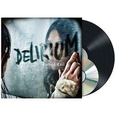 """L'album dei #LacunaCoil intitolato """"Delirium"""" su vinile nero con copertina rigida cartonata gatefold. Include CD bonus."""