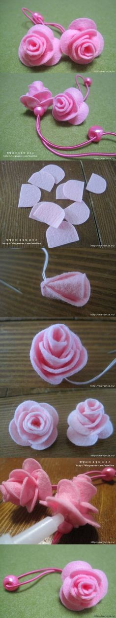 Felt rose - no tute, but I can figure it out anyway