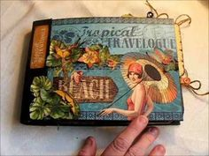 Graphic 45 Tropical Travelogue Mini Album Journal Using Strathmore Base - YouTube