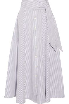 Lisa Marie Fernandez | Striped cotton-poplin skirt | NET-A-PORTER.COM
