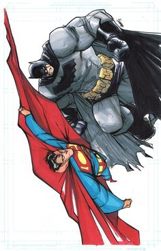 Batman and Superman by Humberto Ramos and Francisco Herrera