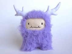 Plush monster Lavender the upcycled monster by curiouslittlebird, $44.00