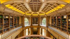 The library looks equally amazing from the second floor.
