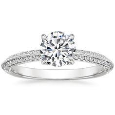 18K White Gold Callista Diamond Ring from Brilliant Earth
