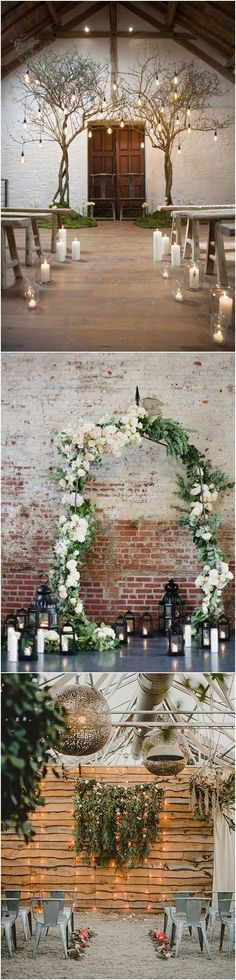 [tps_header][/tps_header] Snowflakes and pinecones are tried-and-true winter wedding motifs, but don't feel bound to these seasonal standbys. Wedding Ceremony Ideas, Wedding Ideas 2018, Wedding Venues Utah, Wedding Images, Wedding Planning, Wedding Reception, Perfect Wedding, Dream Wedding, Shabby Chic Wedding Decor