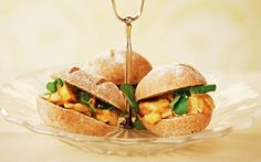 These finger rolls, filled with curry flavoured chicken and mango chutney are perfect for afternoon tea Coronation Chicken Sandwich, Royal Recipe, Afternoon Tea Recipes, Chicken Sandwich Recipes, Tea Sandwiches, Finger Sandwiches, Belgian Chocolate, Chocolate Cake, High Tea