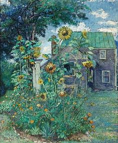 Artist's house in Hampton Bays - David Burliuk. This is very beautiful. Kind of like the scenery I would imagine while reading a book