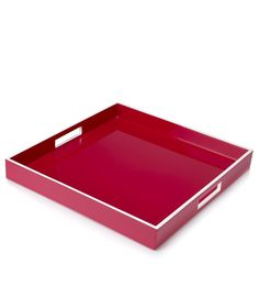 Fashion Colored Trays, Luxury Designer Fuchsia Pink Lacquer Trays From $99 (Gift Boxed) so beautiful, one of over 3,000 limited production interior design inspirations inc, furniture, lighting, mirrors, tabletop accents and gift ideas to enjoy repin and share at InStyle Decor Beverly Hills Hollywood Luxury Home Decor enjoy & happy pinning