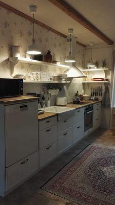 Kitchen Island, Kitchen Cabinets, Koti, Home Decor, Island Kitchen, Decoration Home, Room Decor, Cabinets, Home Interior Design