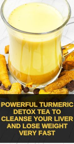 Here is a Powerful Turmeric Detox Tea To Cleanse Your Liver & Lose Weight Fast at home! This is one of the best liver cleansing drink to date that actually gets results fast! If you have been trying to lose weight without success, this drink will help you lose at least 10 pounds within the first 4-5 days of consuming it. Detox Cleanse Drink, Cleanse Your Liver, Detox Tea, Detox Drinks, Cleansing Drink, Fat Burning Smoothies, Fat Burning Drinks, Fat Burning Tips, Fat Burning Foods