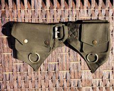 Pocket Belt Cotton Utility Belt,Festival Belt,Fanny Pack,Bum Bag,Hip Bag,Festival Clothing,Money Belt,Travel Belt,Burning Man.Waist Belt. by fairyland6