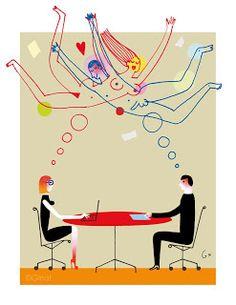 """illustration """"Fantasmes """"pour le Parisien Mag"""
